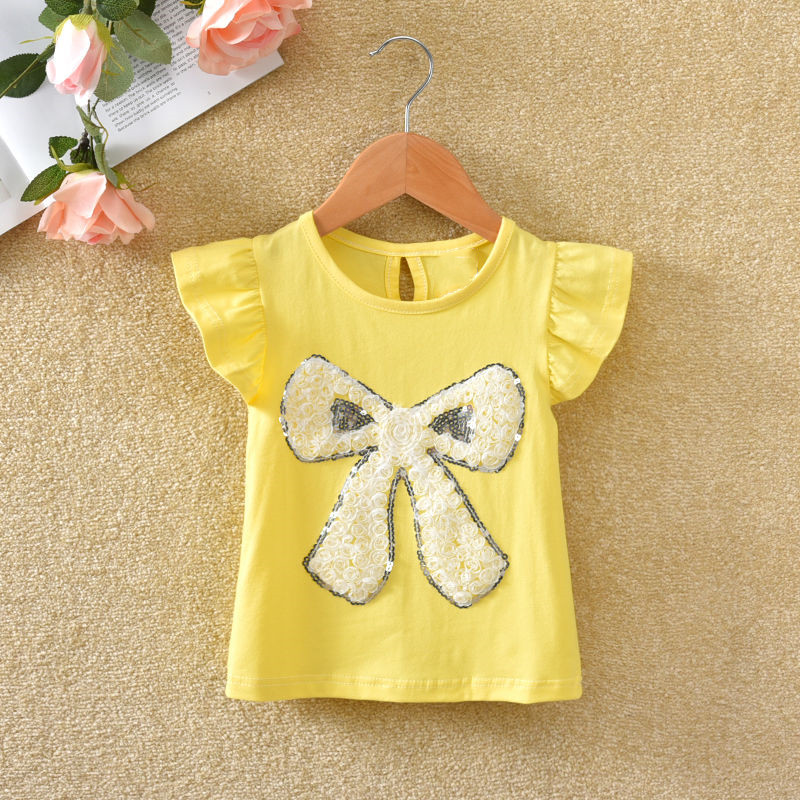 VIDMID Summer Fashion  T-shirt Children Girls Short Sleeves  Tees Baby Kids Cotton Tops For Girls Clothes 1- 7Y  P1054 5