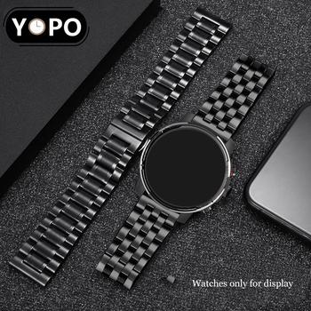 Solid 316L Stainless Steel Watchbands Silver 20mm 22mm Metal Watch Band Strap Wrist Watches Bracelet For Amazfit GTS/GTR 42mm 47 2017 new arrival gold stainless steel watch band 20mm 22mm watch strap for wrist watches replace high quality