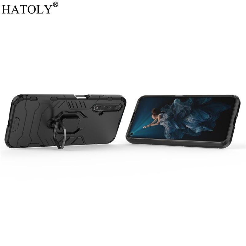 Hard Finger Ring Phone Case For Huawei Nova 5T Shell Bumper Armor TPU Case For Huawei Nova 5T 3