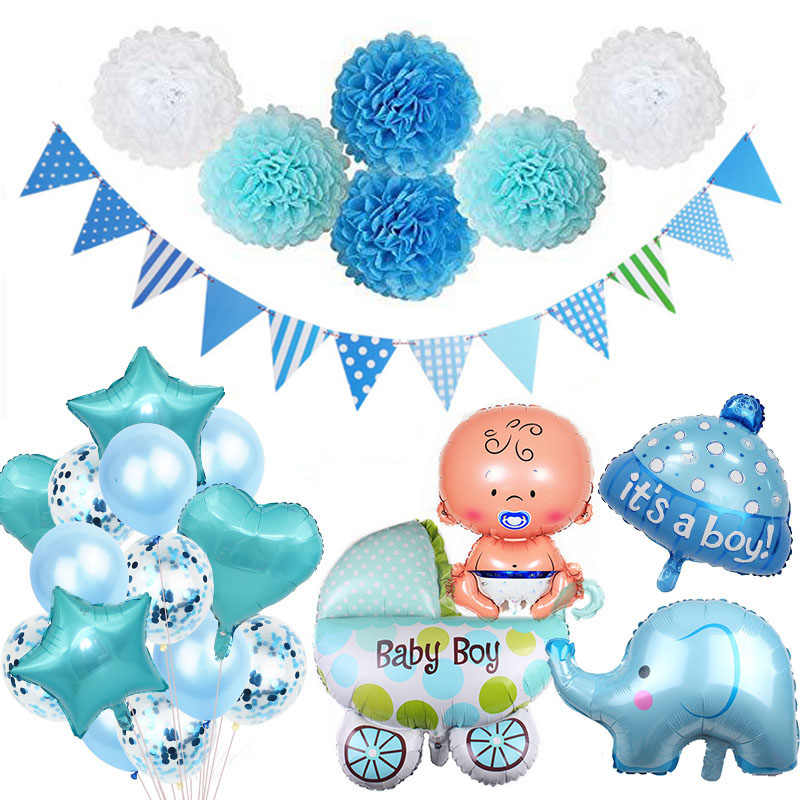 Baby Shower Boy Girl Decorations Set It's A Boy It's A Girl Baby Balloons Gender Reveal Kids Birthday Party Gifts Supplies