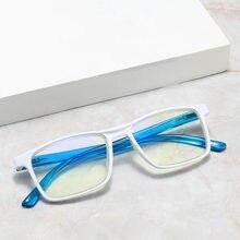 Confortável branco quadrado claro óculos de leitura moda presbiopia eyewear leitor de computador + 100 + 150 200 250 300 350 400 +