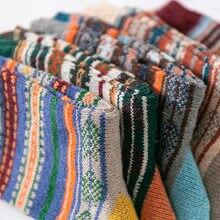Yüksek kalite 5 çift/grup erkek yün çorap şerit rahat Calcetines Hombre kalın pamuk çorap kış sıcak tutan çoraplar erkek yeni