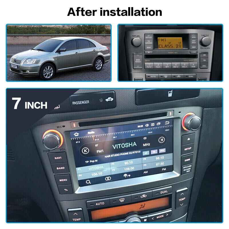 Android 10.0 PX6 4 + 64Gb Auto Dvd-speler Voor Toyota Avensis 2002-2008 T250 Gps Navigatie Multimedia radio Tape Recorder Head Unit