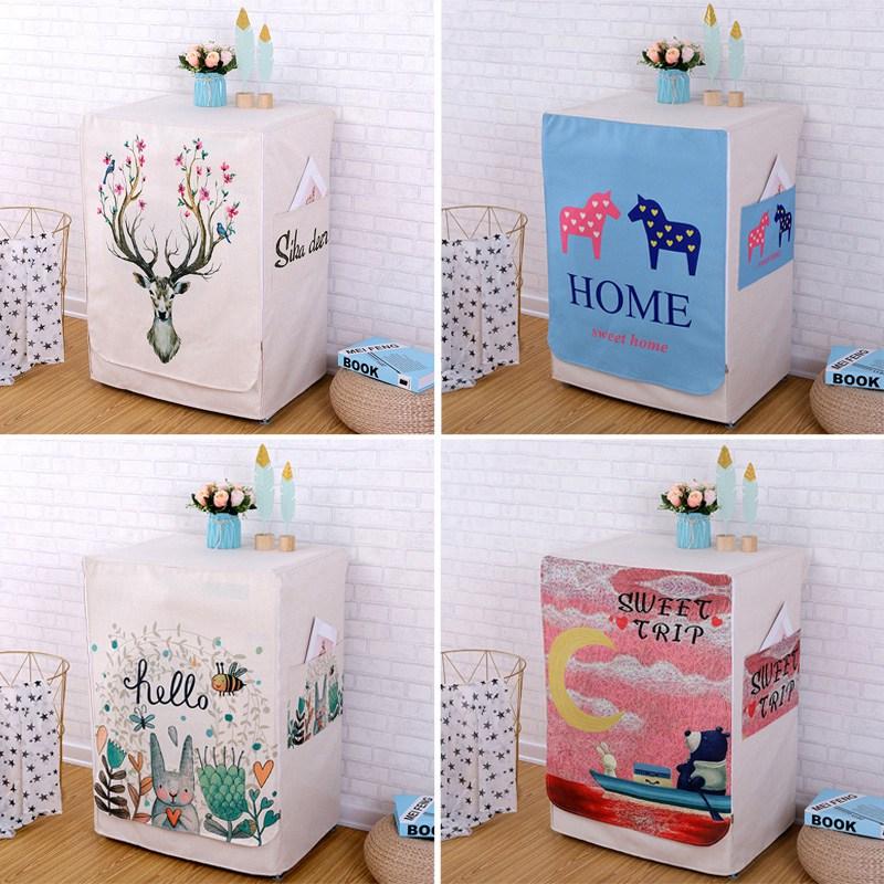Washing Machine Covers Made Of High Quality Cotton linen Material For Home Accessories 4