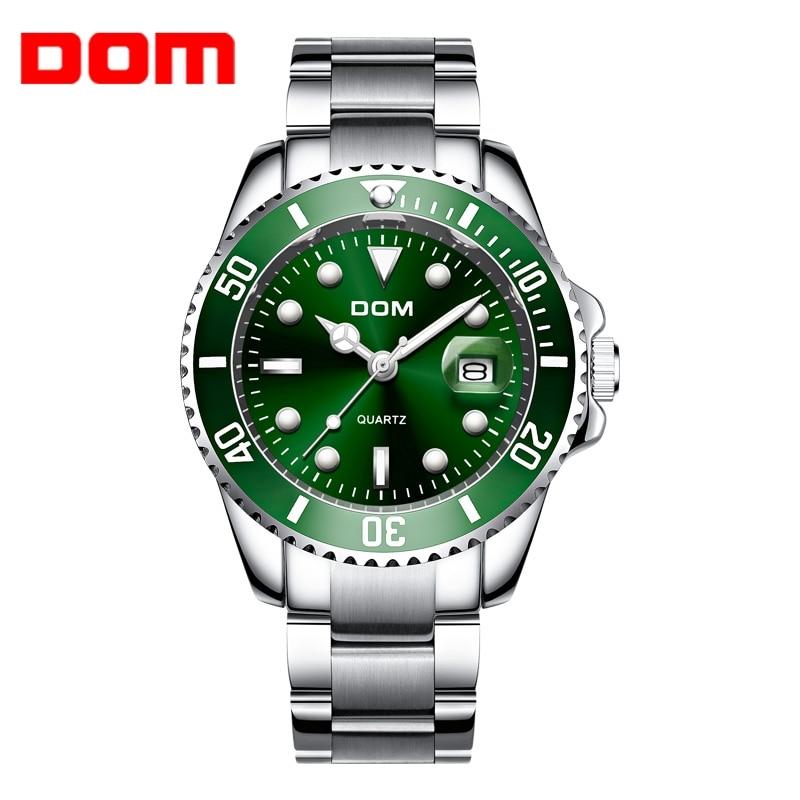 Watch Men DOM Brand Luxury tungsten steel Strap 30m Waterproof Date Clock Male Sports Watches Men Quartz Wrist Watch M-1263D