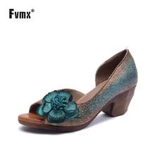 FVMX Genuine Leather 2020 New Fashion Spring and Summer Fema