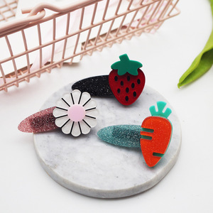 Girls Cute Hair Clips With Fruit Floral Design Children Hairpin Princess Hair Accessories For Girls o