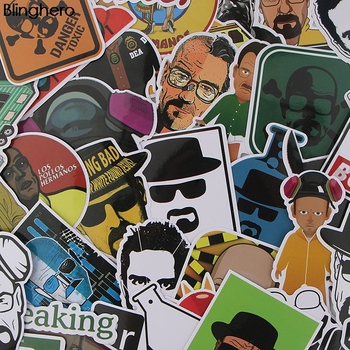 Blinghero Breaking Bad Stickers 34 Pcs/set Cool Stickers Laptop Car Skateboard Stickers Cool Decals Stationery Stickers BH0069 1000 cool stickers
