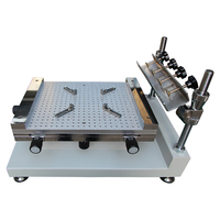 NIEUWE Handleiding PCB SMT stencil printer size 400x250mm zeefdruk tafel Handleiding SMT soldeerpasta printer-in Solderings stations van Gereedschap op