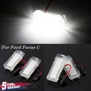 цена на 2 pieces LED License Plate Light Car Truck License Number Plate Light For Focus 3 C MAX S MAX Mondeo 4 Galaxy KUGA 7903 Fiesta