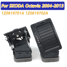 COOYIDOM Left Right Black Air Vent Outlet Free Tool For Skoda Octavi MK2 2004 2013 1Z0819701A 1Z0819702A 1ZD 1Z0 819 701 A 702 A