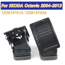 COOYIDOM sol sağ siyah hava firar çıkışı ücretsiz aracı Skoda octavia MK2 2004 2013 1Z0819701A 1Z0819702A 1ZD 1Z0 819 701 A 702 A
