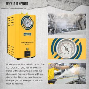 Image 4 - AUTOOL SDT202 SDT206 자동차 자동차 연기 기계 파이프 스모그 생성기 누출 감지 누설 감지기 진단 12V 자동 복구