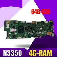 with N3350-CPU  4G-RAM 64G-SSD Laptop Motherboard For Asus Vivobook Flip TP401NA TP401N TP401MA TP401M Mainboard 100% Test good