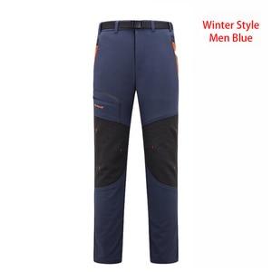 Image 4 - LUTU warm Autumn Winter Softshell Hiking Pants Men Waterproof Outdoor Trousers Sports Camping Trekking cycling ski fleece Pants