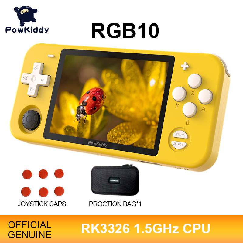 POWKIDDY RGB10 Open Source System Handheld Game Console RK3326 Chip 3 5-Inch IPS HD Screen 3D Rocker Retro Game Children s Gift