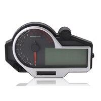 Motocicleta colorida led lcd n 1 6 arquivos digital velocímetro tacômetro temperatura da água e instrumentação de óleo|Conjuntos de painel e medidores| |  -