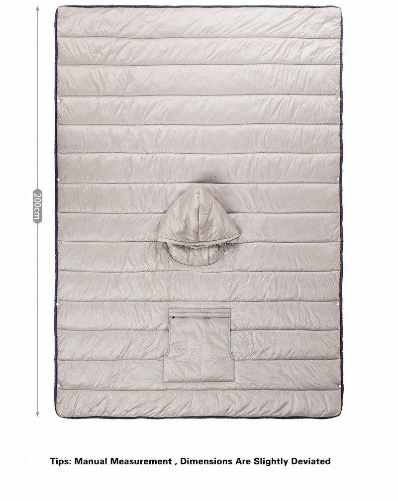 preguiçoso dormir colcha poncho viagem inverno