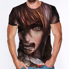 Survey corps 3d printed short sleeve attack on titan anime newest