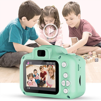Kids Camera Toys Mini Digital 2 Inch Cute Cartoon HD Screen Chargable Photography Props Outdoor Children Camera for Birthday image
