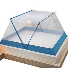 Folding mosquito net red student dormitory single-person home installation portable upper and lower anti-mosquito cover