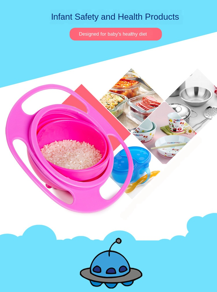 Rotating 360 Spill-Proof Baby Bowl