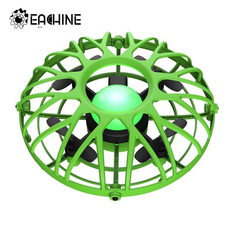 Eachine E111 мини Радиоуправляемый Дрон ручной Летающий летающий самолет Квадрокоптер электронная модель инфракрасная Индукционная интеллекту...