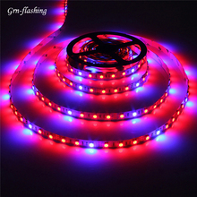 DC 12V LED Grow Tape Lights SMD 5050 1m 2m 3m 4m 5m Red Blue 3:1 Indoor Hydroponics Plant Strip Lamp Seedlings Phytolamp Flower