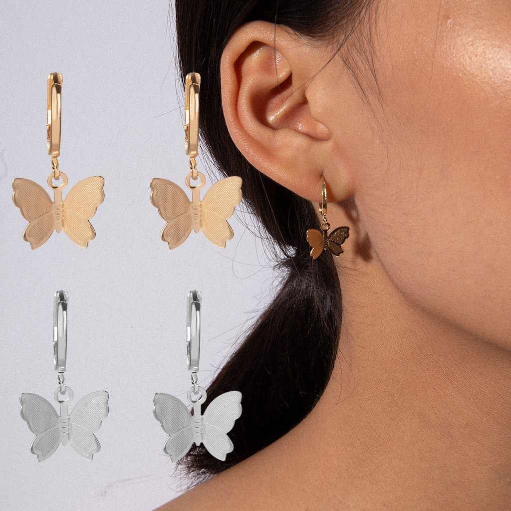 Simple Fashion Metal Gold butterfly Delicate Ladies Earrings Charm Jewelry gifts for women Female Kawaii Personality Earrings