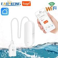 Sensor de fuga de agua de Tuya inteligente con WiFi de EARYKONG alarma de agua Compatible con tukasmart/Aplicación de vida inteligente Instalación fácil|Sensor y detector|Seguridad y protección -