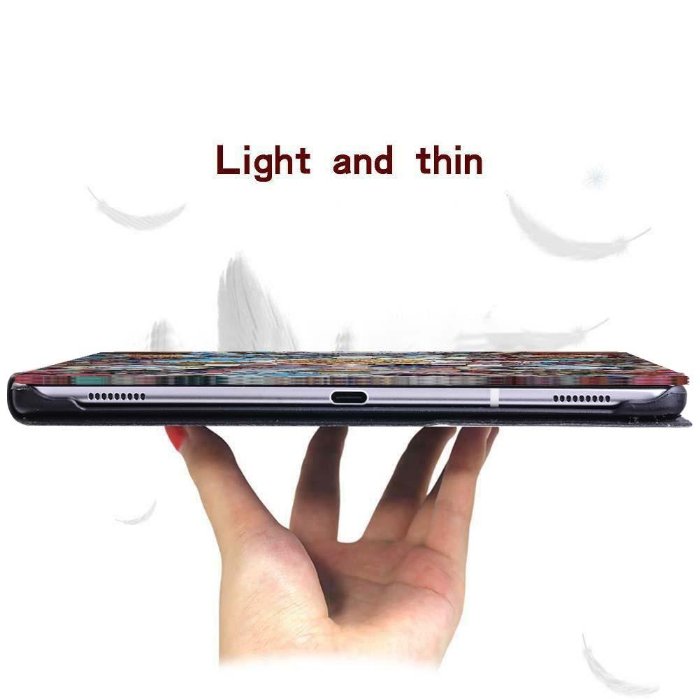 Чехол для планшета из искусственной кожи с принтом для Samsung Galaxy Tab A A6 7 10/Tab E S5E складной защитный чехол для планшета-1