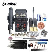 Eruntop 8586 8586 + 8586D + 2in1 Elétrica Ferros De Solda + Hot Air Gun Melhor Estação de Retrabalho SMD Atualizado 8586D