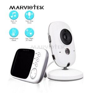 Image 1 - Baby Monitor Video LCD a colori 2 vie Audio Talk 8 ninne nanne nanne monitor di temperatura video tata radio baby camera Wireless