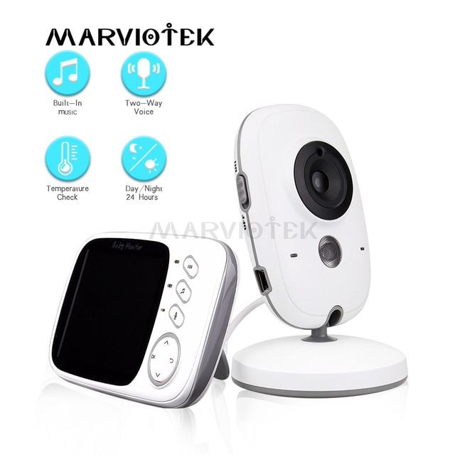 Baby Monitor Video LCD a colori 2 vie Audio Talk 8 ninne nanne nanne monitor di temperatura video tata radio baby camera Wireless