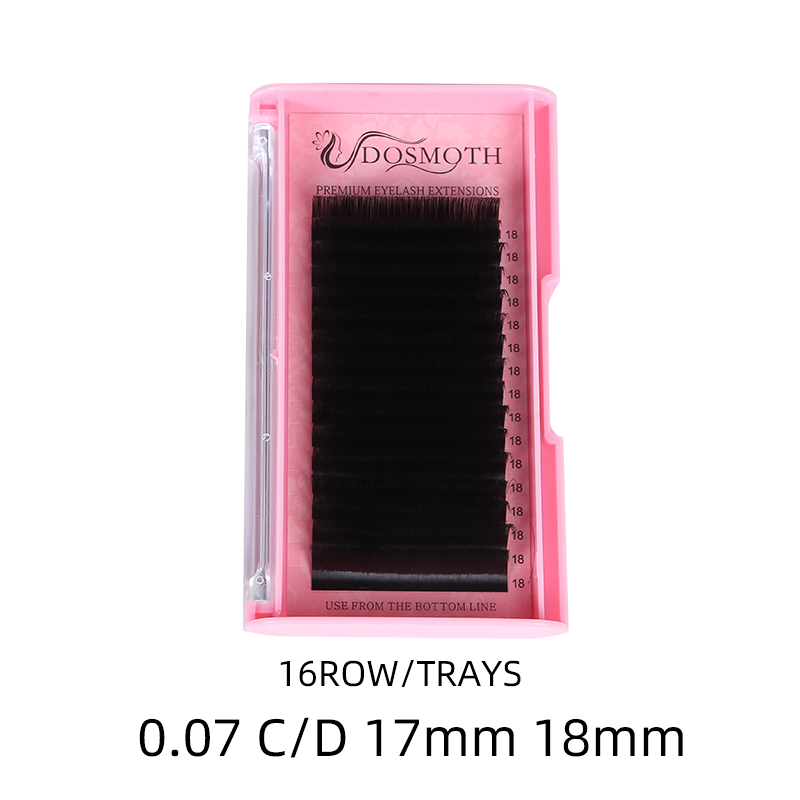 High Quality Extra Long Eyelash Extension 0.07C D 17mm 18mm Natural  False Eyelashes