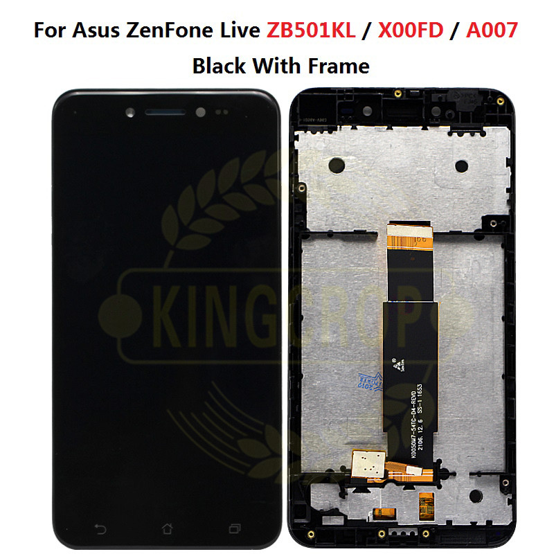 "Image 2 - For 5.0"" Asus ZenFone Live ZB501KL X00FD A007 LCD screen display with frame touch panel digitizer white/black free shippinglcd screen displaylcd digitizerlcd screen -"