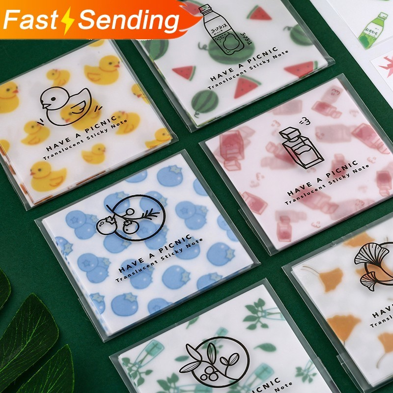 30pcs/set Sulfuric Acid Paper Series Memo Pad Sticky Notes Escolar Papelaria Bullet Journal School Supplies Kawaii Non-sticky