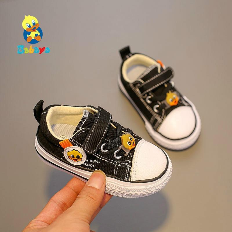 Canvas Shoes Baby Non-Slip Soft-Bottom Girls Boys Breathable Casual Cartoon Children
