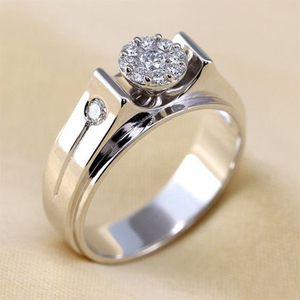 Huitan Classic Design Women Wedding Jewelry Bridal Band Ring Silver Color Crystal CZ Stone Engagement Party Female Simple Rings