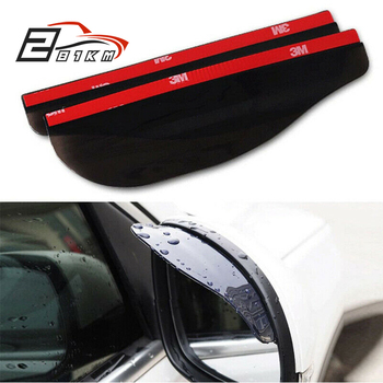 281KM 2Pcs Car side Mirror waterproof Sun Visor Rain Eyebrow Auto Car Rear View Wing Side Rain Shield Flexible Protector For Car image