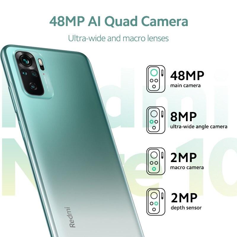 Xiaomi Redmi Note 10 Global Version Smartphone 4GB 64/128GB  Snapdragon 678 6.43'' AMOLED Display 48MP Quad Camera 5000mAh 33W 3