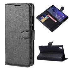 Чехол-кошелек с отделением для карт, чехлы для телефонов Sony Xperia Z3 D6603 D6633, кожаный защитный чехол