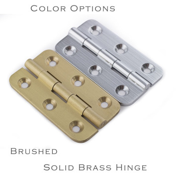 brushed nickel and brass color Solid brass 2 Hinge open 270 degree small furniture Hinge with screws [haotian vegetarian] antique chinese brass coat detachable door hinge hinge small 9cm