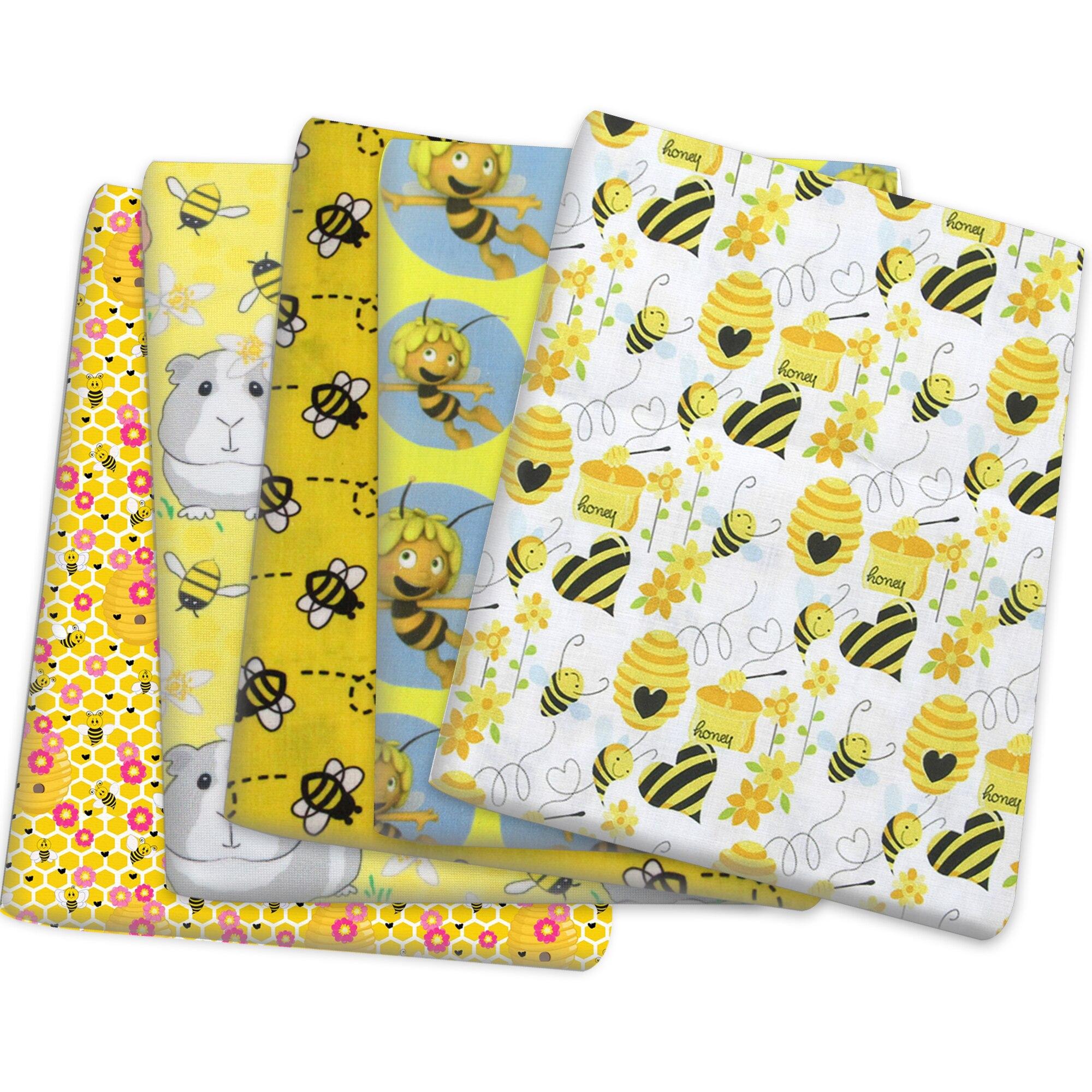 Желтая Пчелка» полиэстер хлопок Материал ткани лоскутное шитье стеганые ткани рукоделие Материал