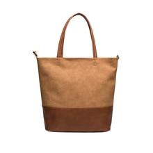 2019 New Vintage Pu Leather Bag Simple Handbags Famous Brands Women Bucket Shoulder Bag Casual Big Tote Ladies Top-handle Bags стоимость
