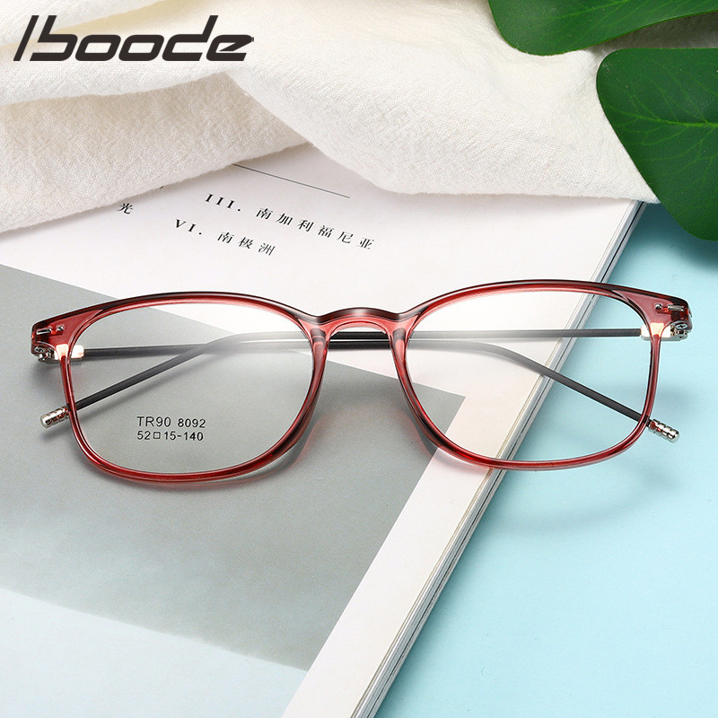 IBOODE TR90 -1 -1.5 -2 -2.5 -3 -3.5 -4 -4.5 -5.0 -5.5 -6.0 Classic Myopia Glasses With Degree Women Men Black Glasses Frame