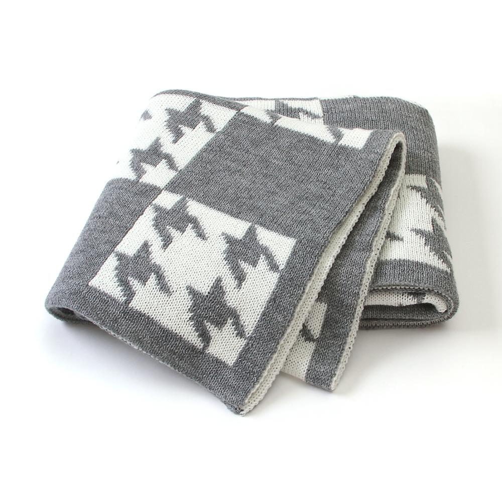 Baby Blankets Warm Knitted Newborn Infant Bedding Swaddle Wrap Blankets For Stroller Sofa Cover 100*80cm Toddler Kids Bath Towel