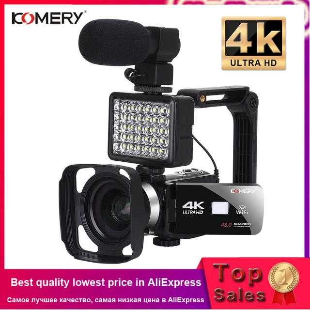 4K Video Camera Live Stream Digital Camcorder Lens Hood WiFi Camera Night Vision Vlogging Camera Digital Camcorder Photography