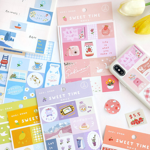 24 pces 12 pacotes doce tempo criativo decoracao diy cor de sal bonito grade laco