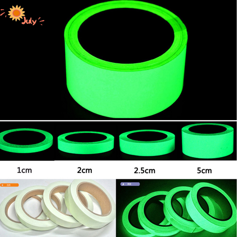 Green Luminous Tape Self Adhesive Glow In The Dark Stickers 3m 10m Stage Decorative Luminous Fluorescent Tape Warning Stickers